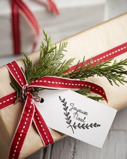 Papier cadeau personnalisé ruban