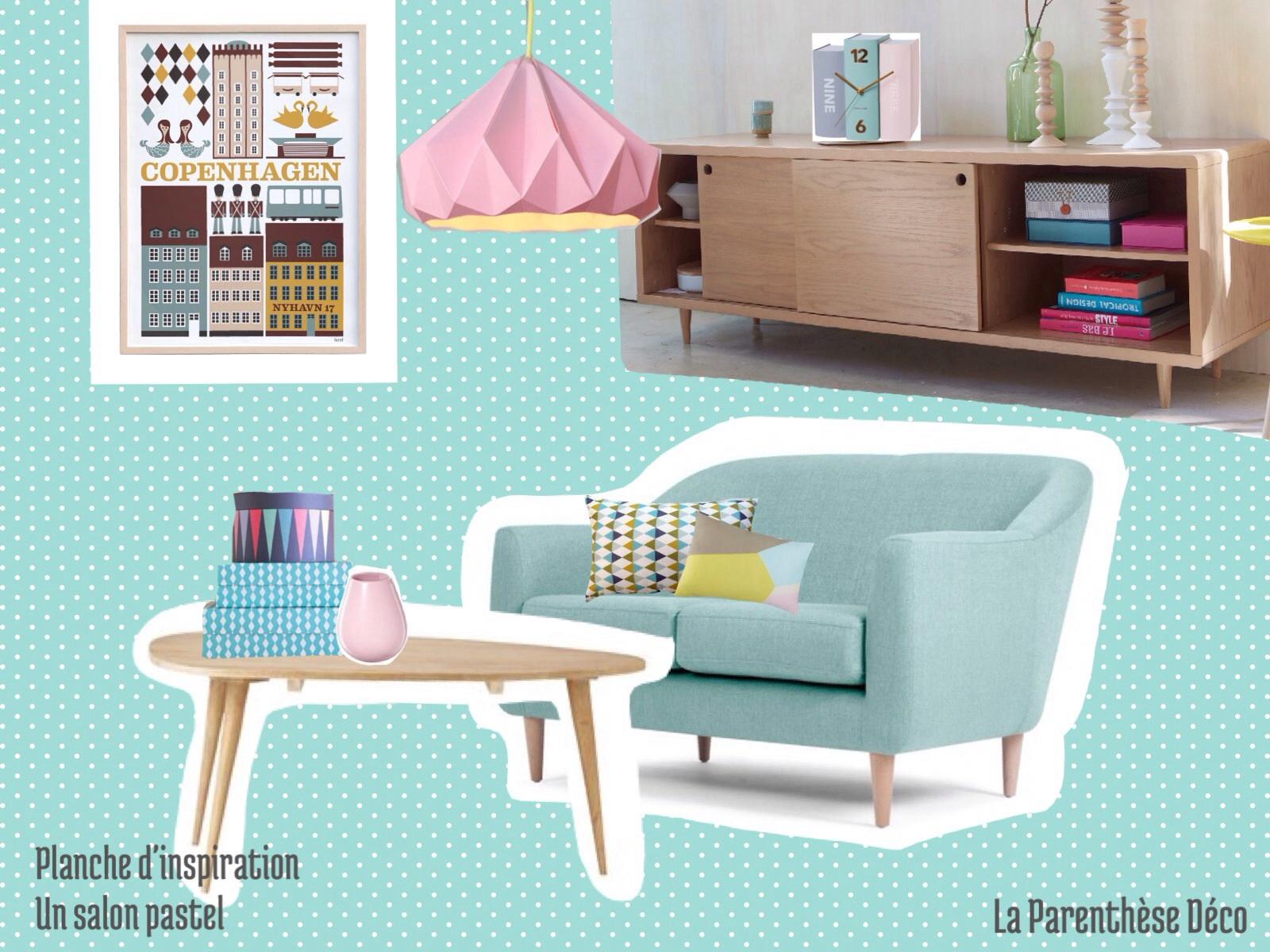 Salon pastel la parenth se d co for Salon pastel