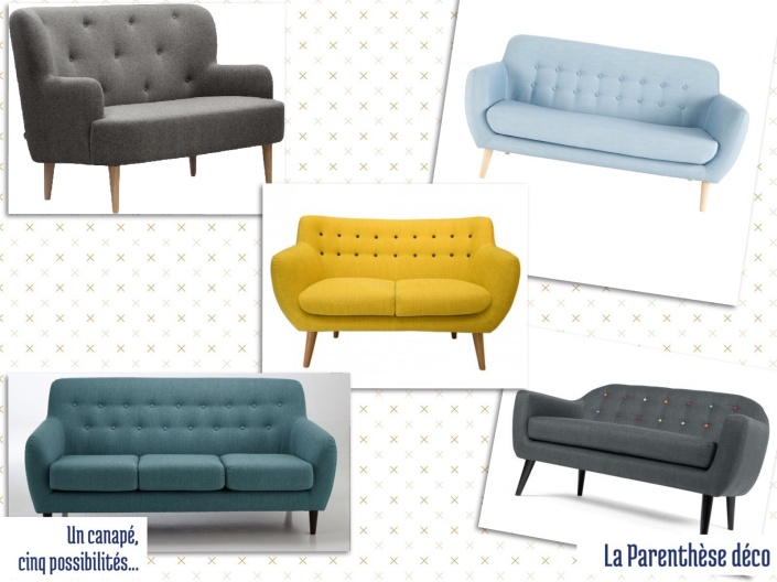 un canap r tro cinq possibilit s la parenth se d co. Black Bedroom Furniture Sets. Home Design Ideas