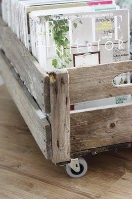 caisse en bois porte revues la parenth se d co. Black Bedroom Furniture Sets. Home Design Ideas