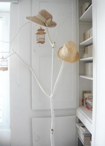 Branche déco peinte en blanc