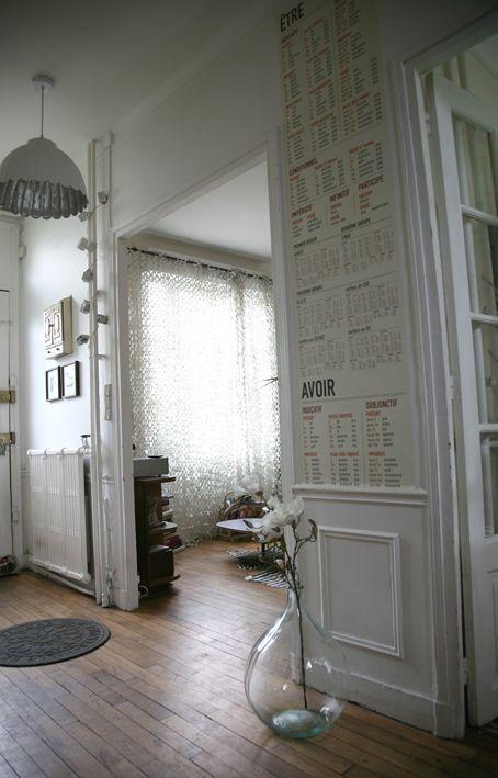 Entrée Madame La Broc, lé de papier peint conjugaison