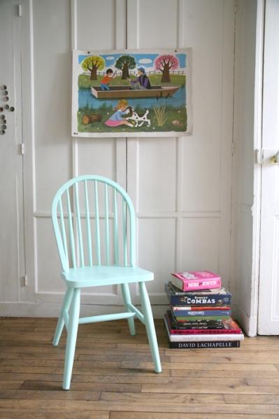 Chaise pastel, vert mint, Madame La Broc