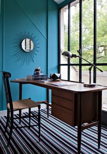 Bleu sarah lavoine bureau avec verrière