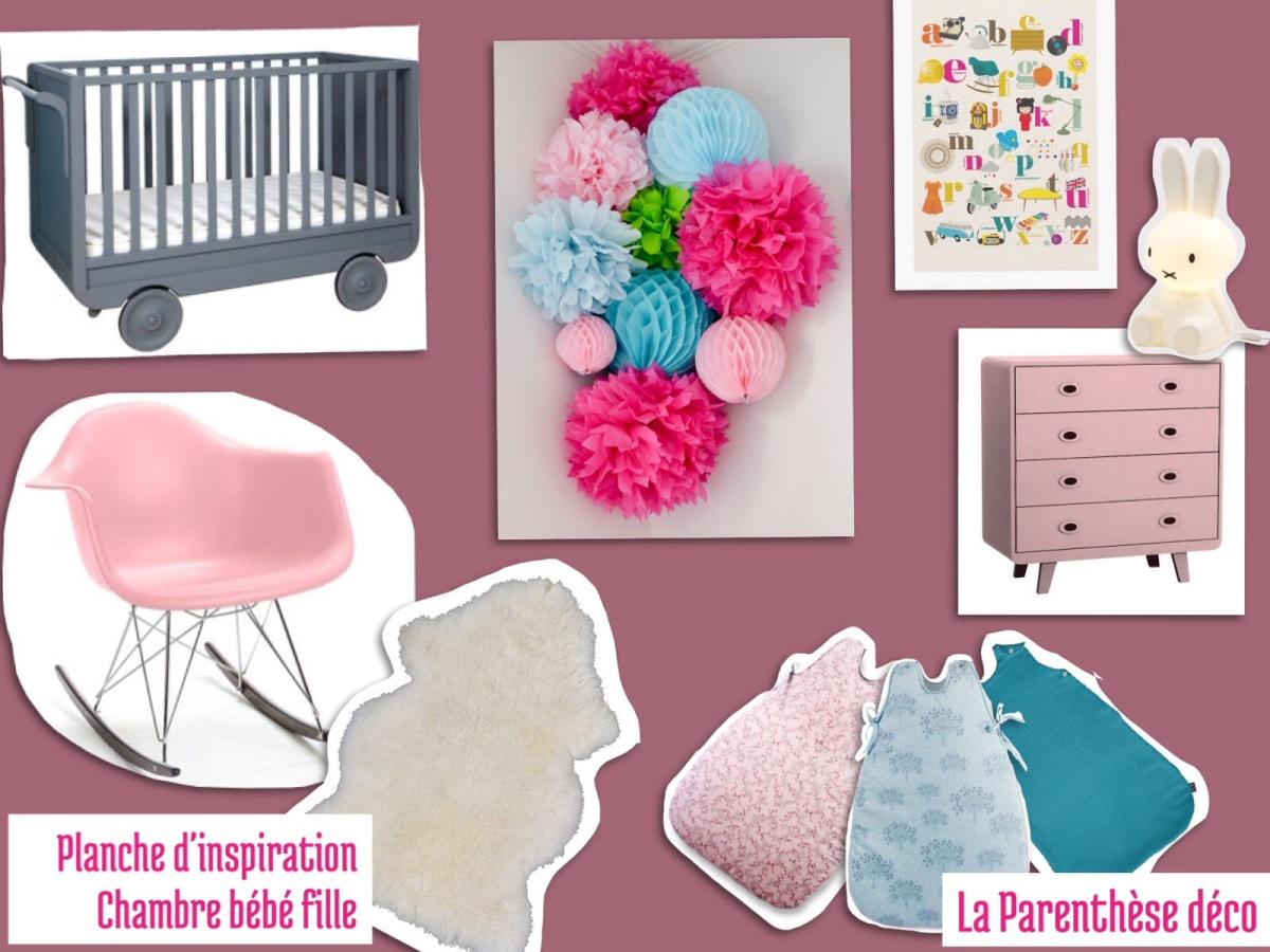Inspiration décoration mobilier chambre de bébé pastel petite fille