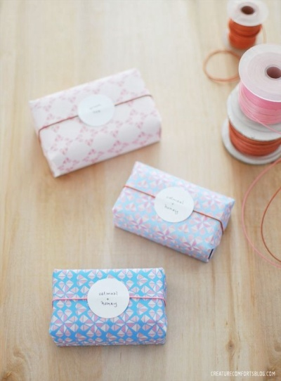 Idée de joli emballage cadeau DyI