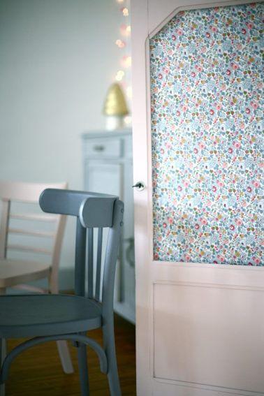 Id e r cup que faire avec une porte ancienne la for Papier peint pour porte interieure