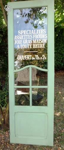 Porte restaurant à recycler en décoration - Vu sur La Parenthèse déco