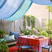 Terrasse bohème : comme une envie de printemps...