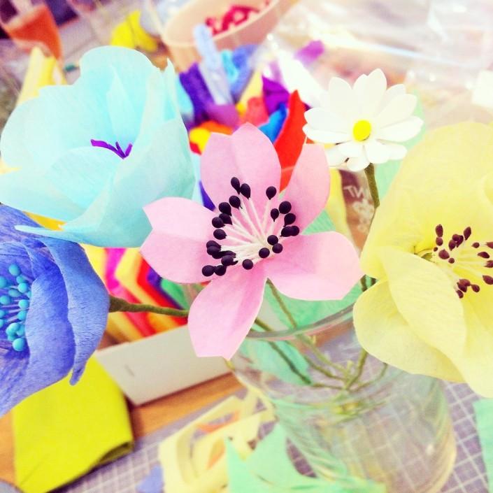 Atelier Fleurs en papier, vu sur La Parenthèse déco