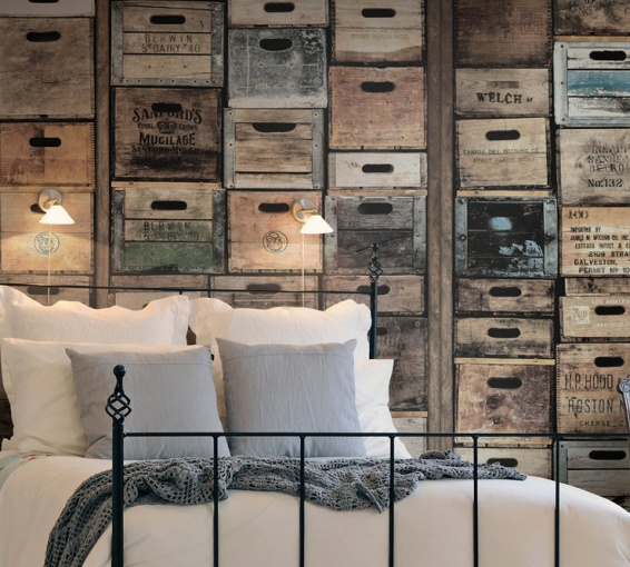 papier peint industriel en trompe l il la parenth se d co. Black Bedroom Furniture Sets. Home Design Ideas
