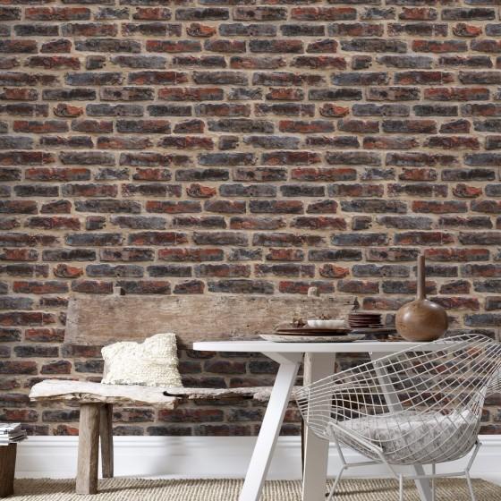 papier peint industriel en trompe l il la parenth se d co. Black Bedroom Furniture Sets. Home Design Ideas
