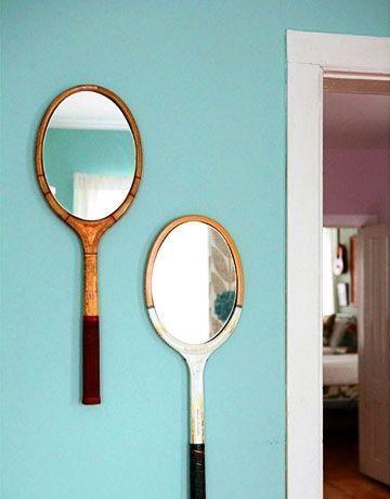 Raquettes miroir décoration