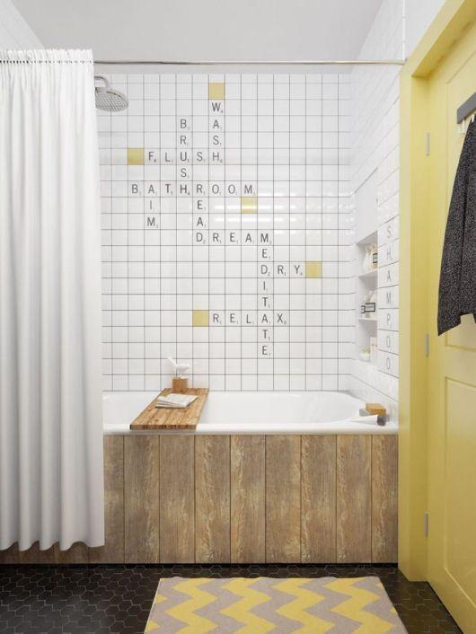 Salle de bain esprit scrabble