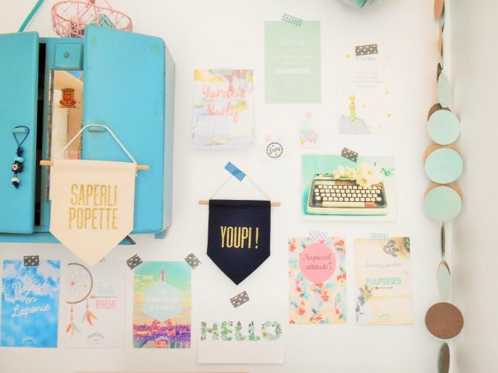 Bureau Saperlipapier mur d'inspiration (2)